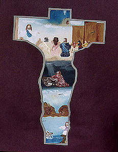 Cross Painting - Jesus Life by Tina Antoniades