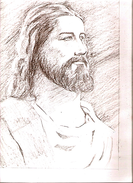 Jesus Drawing - Jesus by Nevis Jayakumar