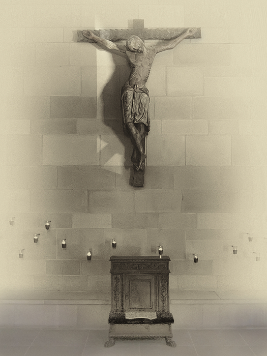 Jesus Photograph - Jesus On The Cross Chapel Icon by Daniel Hagerman
