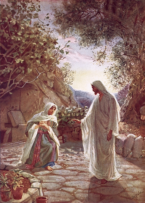 Christ Painting - Jesus Revealing Himself To Mary Magdalene by William Brassey Hole