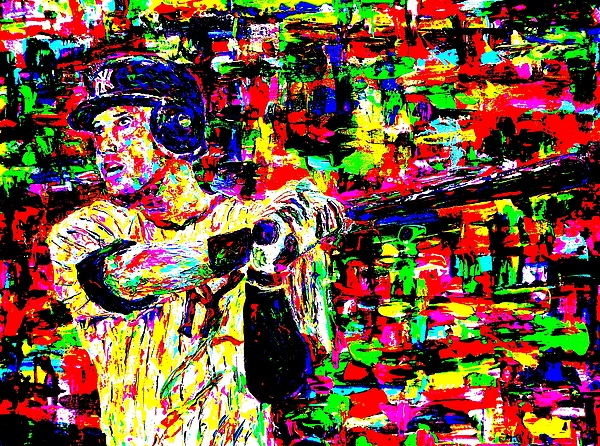 Jeter Painting - Jeter by Mike OBrien