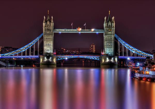 Tower Bridge Photograph - Jewel Of The Night by Evelina Kremsdorf