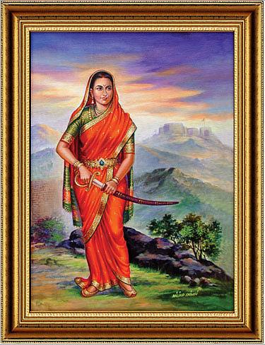 Painting Painting - Jijausaheb Painting by Milind Shimpi