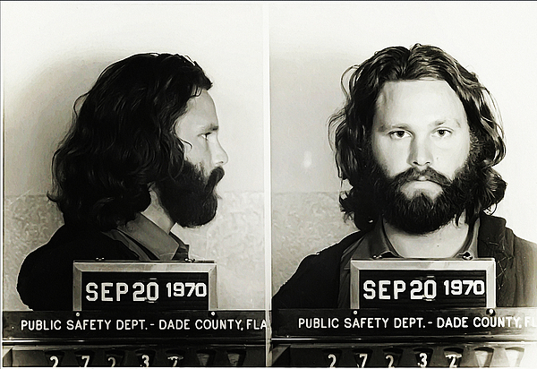 Jim Morrison Photograph - Jim Morrison Mugshot by Bill Cannon
