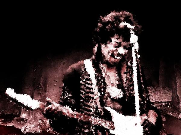 Jimi Hendrix Digital Art - Jimi  by Andrea Barbieri
