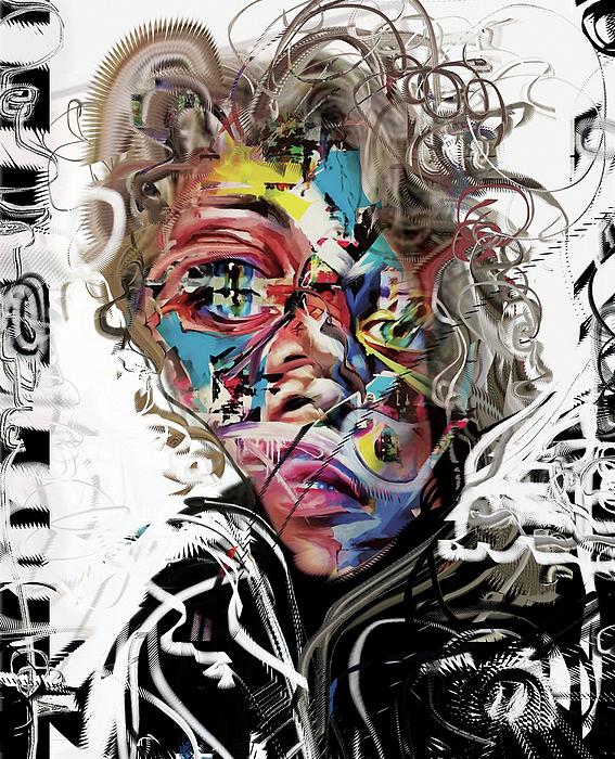 Jimi Hendrix Mixed Media - Jimi Hendrix by Russell Pierce