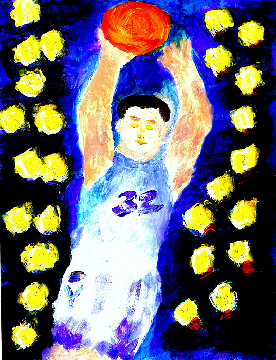 Jimmy Painting - Jimmy Fredette Jimmered 2 by Ricardo Richard W Linford