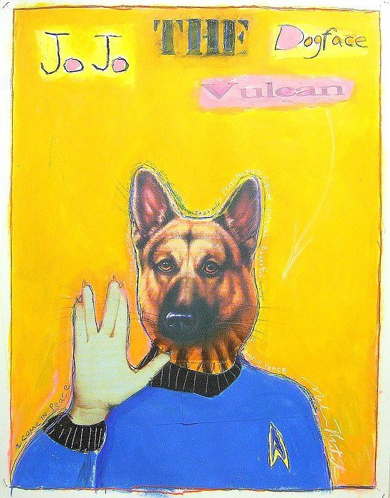 Dog Painting - Jo Jo The Dodfaced Vulcan by Mike  Mitch