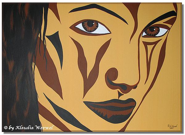 Woman Painting - Joanna  by Klaudia Warwel