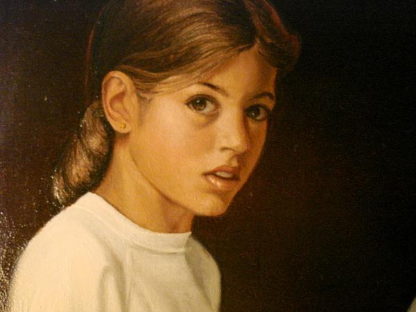 Portrait Painting - Joanne by Catherine Amendola