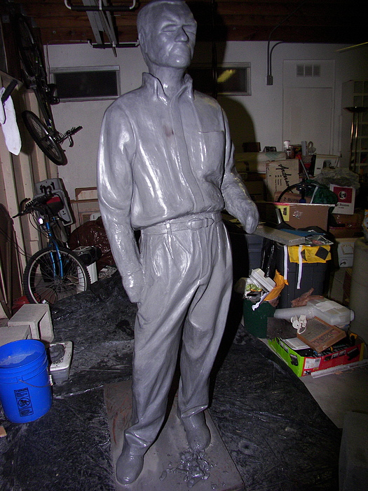 Sculpture Sculpture - Joe Comes Close To A Finish by Charles Peck