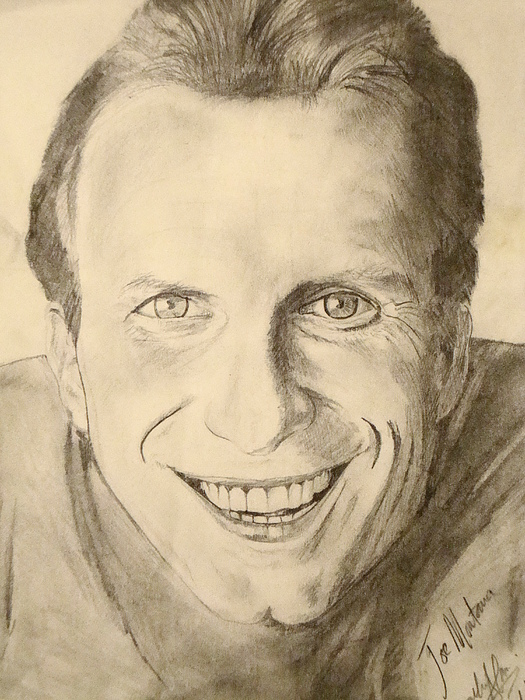 49ers Legend Drawing - Joe Montana by Art by AK