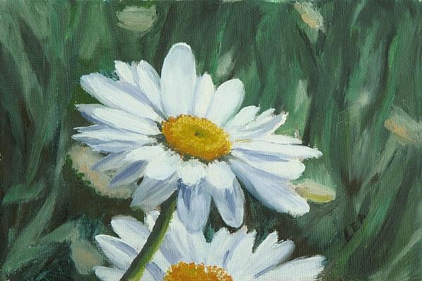 Daisy Painting - Joes Daisies by Lea Novak