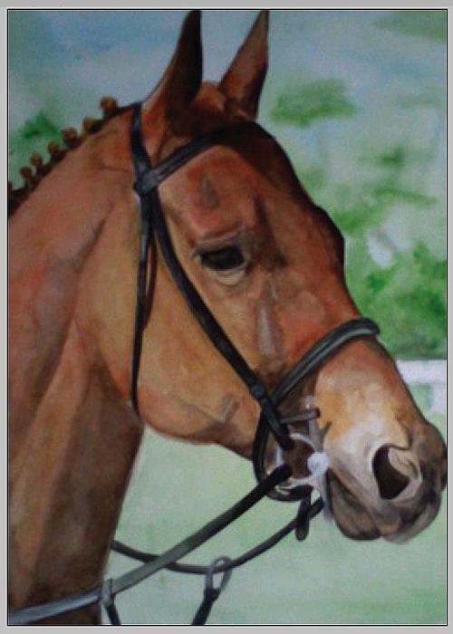 Farmer Painting - Joes Horse by Tabitha Marshall