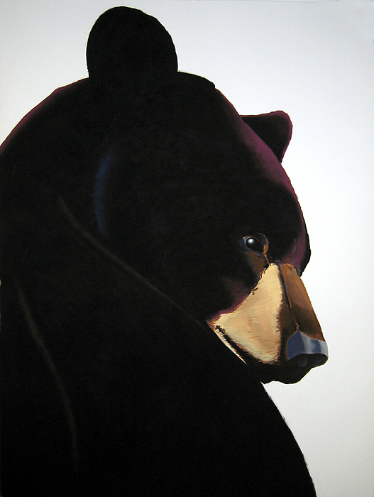 Black Bear Painting - Joey by Brenda Wolf
