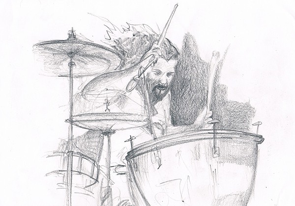 Musician Drawing - John Bonham by Matt LeClair