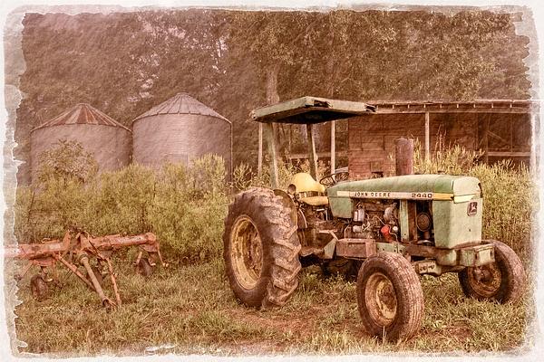 Appalachia Photograph - John Deere Antique by Debra and Dave Vanderlaan