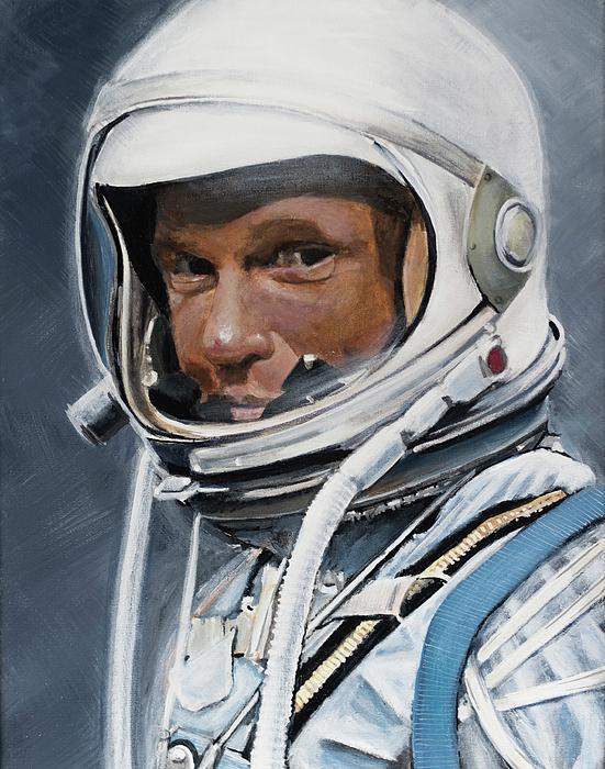 Nasa Painting - John Glenn by Simon Kregar