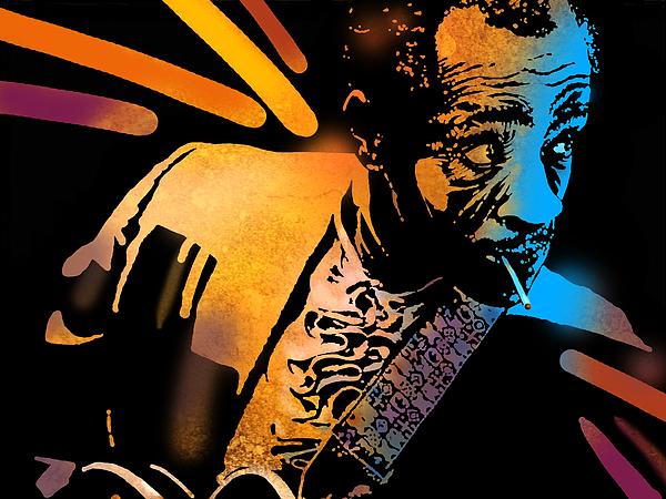Blues Painting - John Hooker by Paul Sachtleben