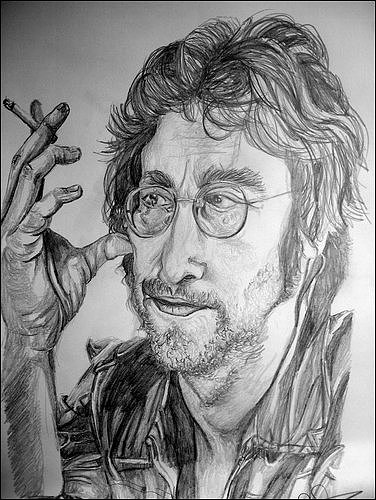 John Lennon Drawing by Sean Leonard
