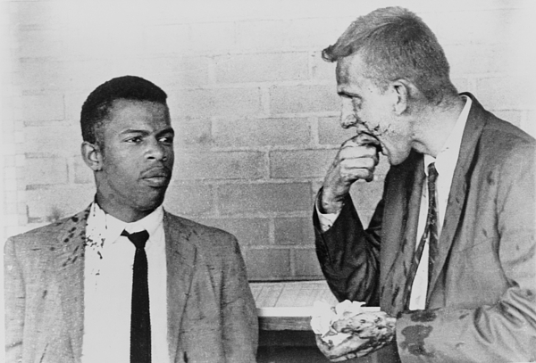 History Photograph - John Lewis Talks With Fellow Freedom by Everett
