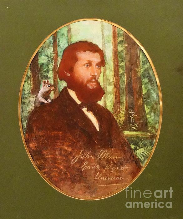 John Muir Painting - John Muir With Chip On His Shoulder by Kean Butterfield