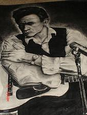 Johnny Cash The Early Years Drawing by Jeremy Satteson