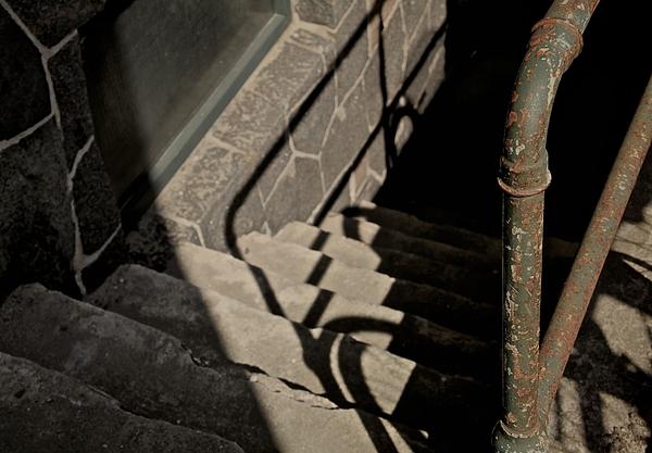 Steps Photograph - Johnnys In The Basement by Odd Jeppesen