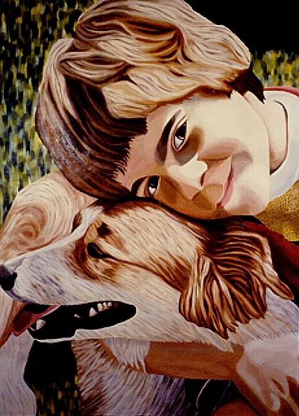 Jon And Sam Painting by Frank Rozasy