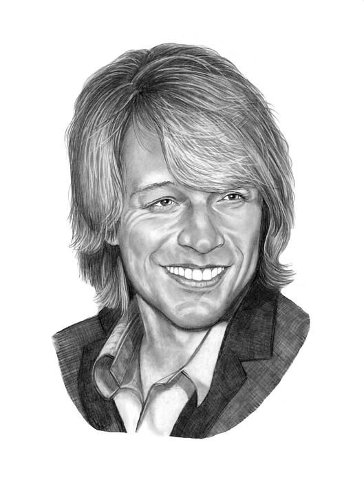 Jon Bon Jovi Drawing - Jon Bon Jovi by Murphy Elliott