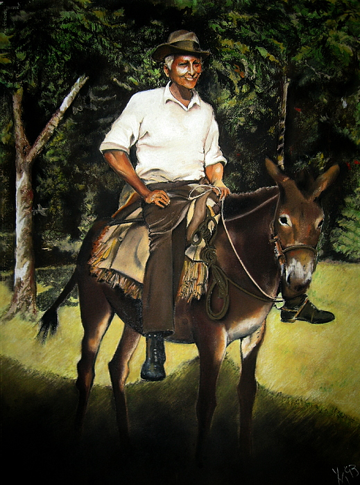 Pastel Drawing - Jose by Yxia Olivares