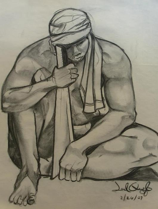 Nude Drawing - Joseph by Joel Quiggle