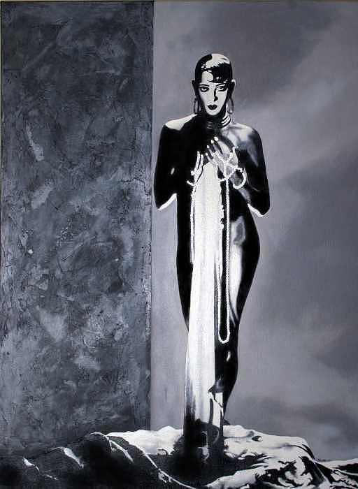 Female Figure Mixed Media - Josephine Baker by Logan Kearse