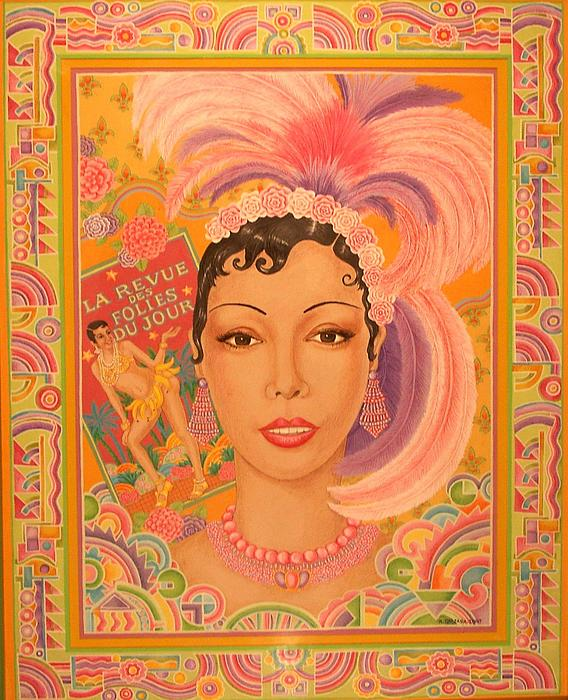 Icons Painting - Josephine Baker by Robert Quijada
