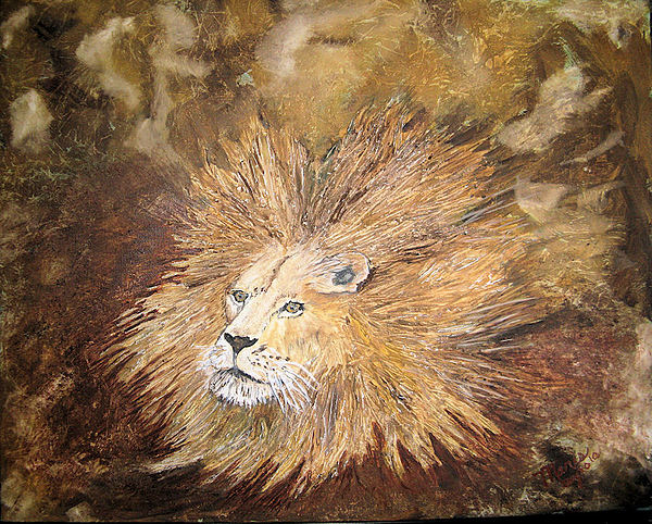 Animals Painting - Josephs Bad Hair Day by Maris Sherwood
