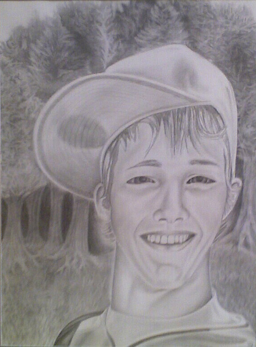 Portrait Drawing - Josh by Steven Santee