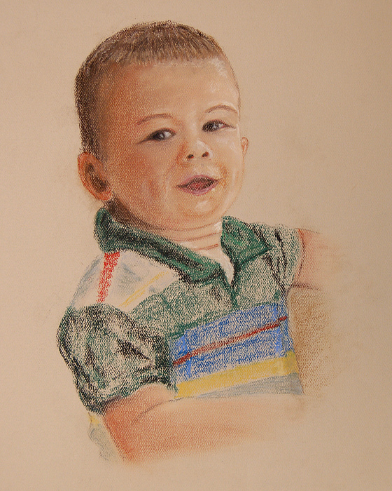 Child Painting - Joshua No.2 by Marina Garrison