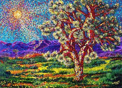 Southwest Painting - Joshua Tree California by Max R Scharf