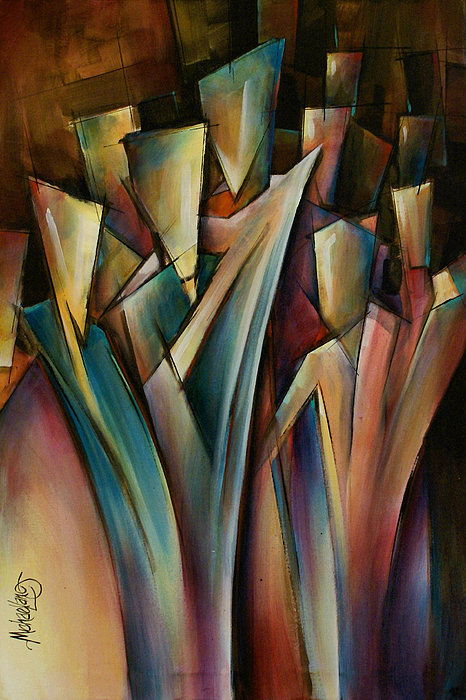 Cubist Painting Painting - Journey by Michael Lang