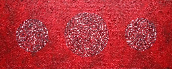 Circle Painting - Journey Of Life II by Sophia Elise