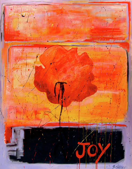 Abstract Painting - JOY by Betty OHare