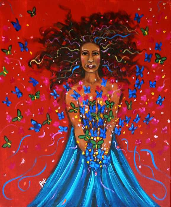 Butterfly Release Painting - Joyous Transformation by Ana M  Berry
