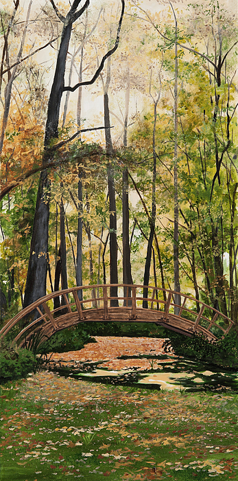 Trees Painting - Golden Afternoon by Carla Dabney