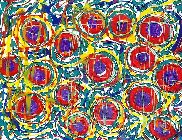 Abstract Painting - Jugglery Of Colors by Baljit Chadha