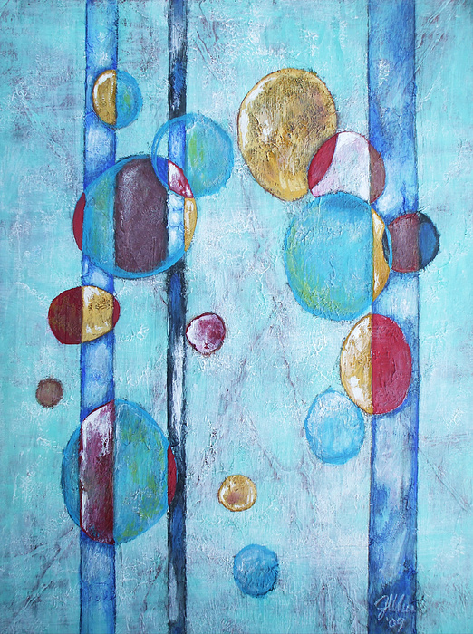Abstract Painting - Juggling Act by Jennifer Bonset