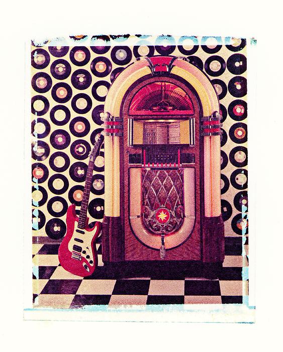 Polaroid Transfer Photograph - Juke Box Polaroid Transfer by Garry Gay