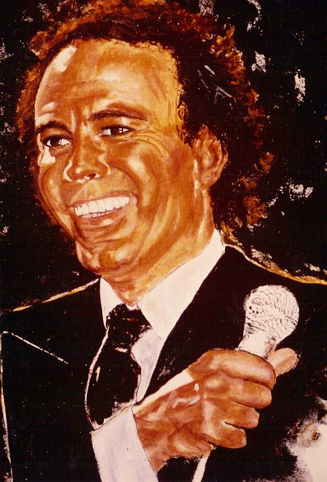 Julio Painting - Julio Iglesias by Shakti Brien
