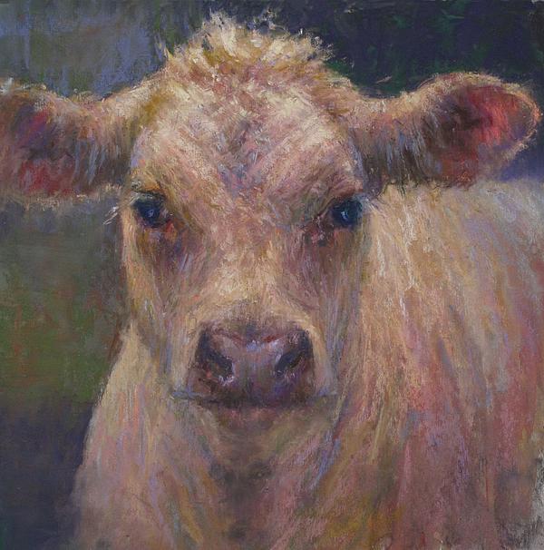 Cows Painting - Julius by Susan Williamson