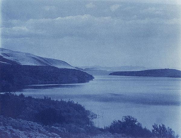 Cyanotype Photograph - June Lake Loop Owens Valley by Gustavo Castilla
