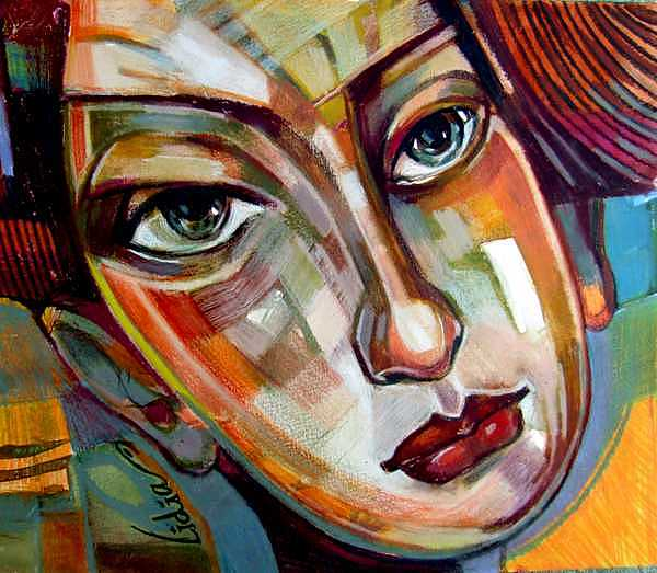 Portret Painting - June by Lidia Simeonova